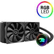 iBUYPOWER 240mm addressable RGB liquid cooling system - Black-iBUYPOWER 240mm Fan (Black) [X299]