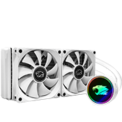 iBUYPOWER 240mm addressable RGB liquid cooling system - White-iBUYPOWER 240mm Fan (White)  [Z370]