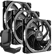 3x [Black] ENERMAX T.B. Silence ADV 120mm Ultra Silent Fan  includes FREE ENERMAX Magnetic Headset Holder