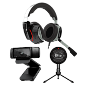 [100 OFF] Streamer Bundle - Startup ($239 Value)-Microphone + Webcam + Headset