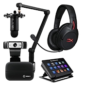 [$200 OFF] Streamer Bundle - All Star ($999 Value)-Microphone + Webcam + Headset + Stream Deck Control + Video Capture Device