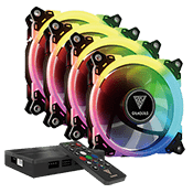 4x [RGB] GAMDIAS Aeolus M1-1201 120mm RGB LED Fan