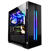 Lian Li LANCOOL ONE DIGITAL Tempered Glass RGB Gaming Case - Black