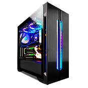 Lian Li LANCOOL ONE Tempered Glass RGB Gaming Case - Black