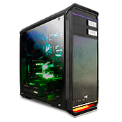 AeroCool AERO 500G RGB Gaming Case - Black-Black
