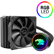 iBUYPOWER 120mm Addressable RGB Liquid Cooling System - Black-iBUYPOWER 120mm Fan (Black) [X299]