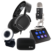 [$150 OFF] Streamer Bundle - Elite ($799 Value)-Microphone + Webcam + Headset + Stream Deck Control + Video Capture Device