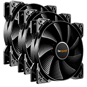 3x [Black] be quiet! Pure Wings 2 PWM 120mm All Black Silent Fan