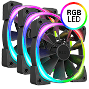 3x [RGB] NZXT AER RGB 2 120mm Fan - with NZXT Hue 2 Controller