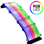 LIAN LI STRIMER 24 Pins Addressable RGB Extension Cable with Controller Set (Includes Professional Wiring)