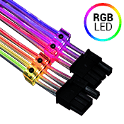 LIAN LI STRIMER 8 pins Addressable RGB Extension Cable with Controller Set (Includes Professional Wiring)