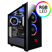 iBUYPOWER Element Front and Side Tempered Glass RGB Gaming Case-3x RGB Fans