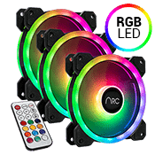 3x [RGB] iBUYPOWER RGB 120mm Fan - with remote controller