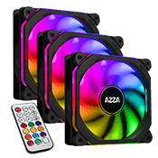 3x [RGB] AZZA Prisma 120mm RGB LED Fan