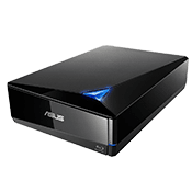 ASUS EXTERNAL DVDRW Blu-Ray USB 3.0 (Black)-Disc Encryption with password-controlled and hidden-file functionality