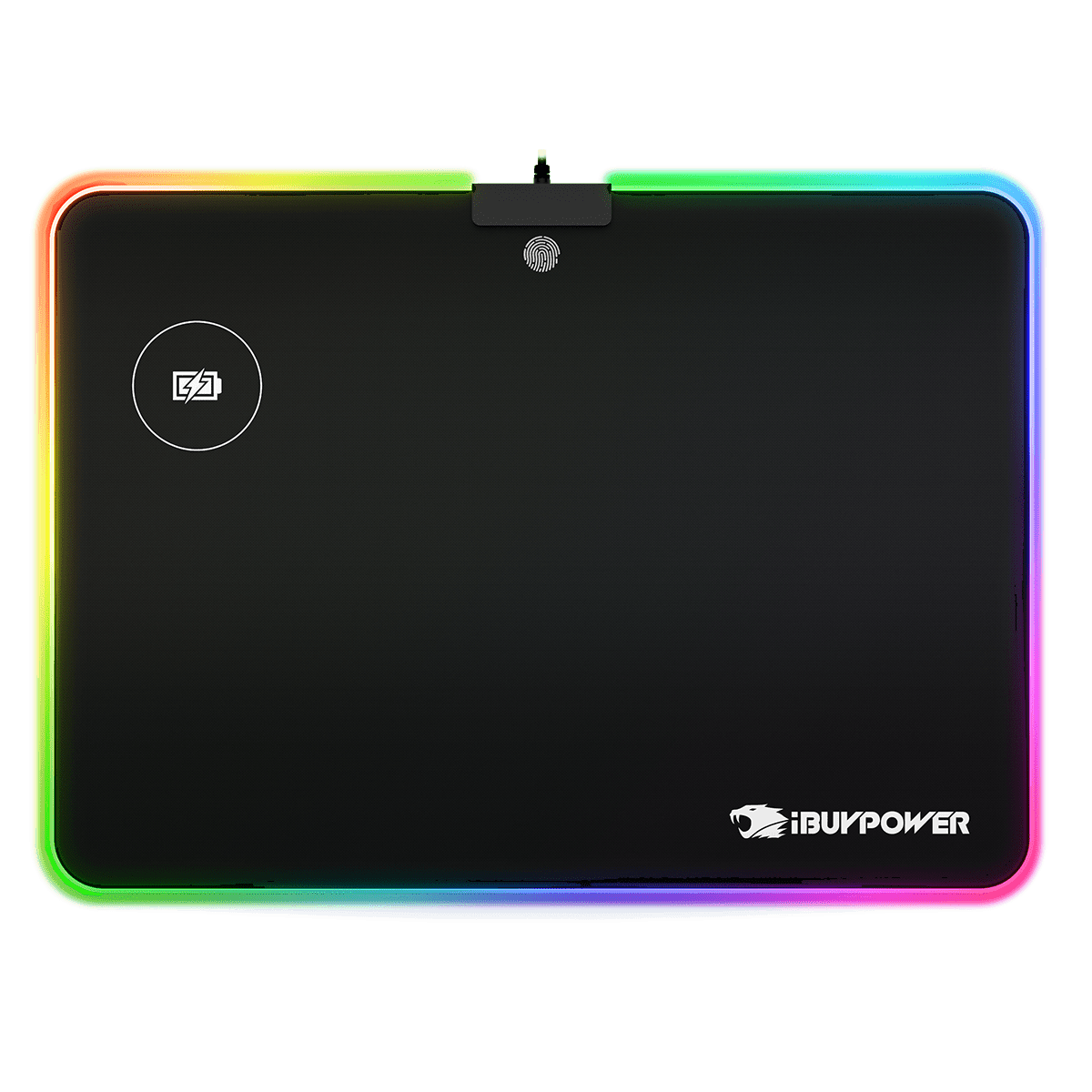 Ibuypower Rgb Qi Wireless Charging Mouse Pad Metal Hard Surface