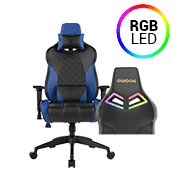 [$80 OFF] - Gamdias Achilles E1 Gaming Chair w/ RGB Back Lighting - [Black/Blue] ($269 value)