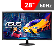 "28"" [3840 x 2160] ASUS VP28UQG EYE CARE GAMING MONITOR - 4K 1ms - AMD FreeSync + Eye Care-Single Monitor"