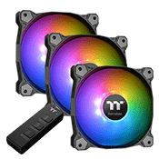 3x [ARGB] Thermaltake Pure 12 ARGB Sync Radiator Fan TT Premium Edition 120mm RGB LED Fan