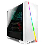 AeroCool Cylon RGB Gaming Case - White