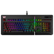 TT Level 20 RGB Mechanical Gaming Keyboard With Cherry Mx Speed Silver Switches Keyboard [BK]-KB-LVT-SSBRUS-01 (Black / Silver Switches)