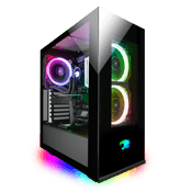 iBUYPOWER Element PRO Front and Side Tempered Glass RGB Gaming Case