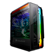 Cougar Gemini T Glass-Wing Gaming Case with Trelux Dynamic ARGB Lighting
