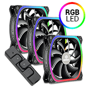 3x [ARGB] ENERMAX SquA Addressable 120mm 3 Fan Kit