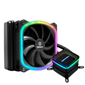 ENERMAX 120mm AQUAFUSION ARGB CPU Cooler - Black