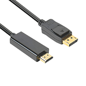 DisplayPort to HDMI 6 Feet Gold-Plated Male to Male Cable