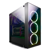AeroCool Quartz Revo ARGB Front and Side Tempered Glass Gaming Case