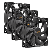 3x [Black] be quiet! Pure Wings 2 120mm All Black Silent Fan