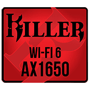 Killer AX1650 Wireless 802.11 ax Wi-Fi 6 + Bluetooth v5.1 [M.2]