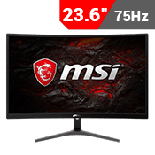 "24"" [1920x1080] MSI Optix G241VC Curved Gaming Monitor - 75Hz 1ms + AMD FreeSync + G-Sync Compatible-Single Monitor"