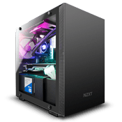 NZXT H210 Tempered Glass Gaming Case - Black