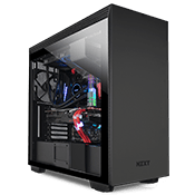 NZXT H710 Tempered Glass Gaming Case - Matte Black