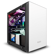NZXT H210 Tempered Glass Gaming Case - White