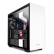 NZXT H710 Tempered Glass Gaming Case - Matte White