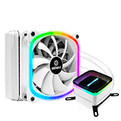 ENERMAX 120mm AQUAFUSION ARGB CPU Cooler - White
