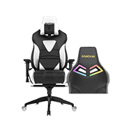 [Special Black Friday Offer - $130 OFF] - Gamdias Achilles M1 L Gaming Chair w/ RGB Back Lighting - [Black/White] ($329 value)