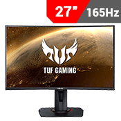 "27"" [1920 x 1080] ASUS TUF VG27VQ EYE CARE GAMING MONITOR - 165Hz 1ms - AMD FreeSync-Single Monitor"