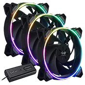 3x [ARGB] In Win Sirius Loop 120mm Addressable RGB Fan