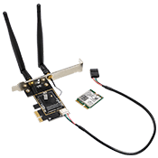 KILLER AX1650 802.11ax Wireless + Bluetooth Combo + M.2 (NGFF) WIFI Card to PCI-e 1X Adapter/7E-IBP0WF0-000