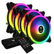 4x [ARGB] GAMDIAS AEOLUS M2 1204R 120mm Addressable RGB Fan