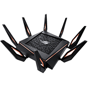 [802.11ax] ASUS ROG RAPTURE GT-AX11000 Tri-Band WiFi Gaming Router-Up to 4804 Mbps, dual 2.4GHz/5GHz bands