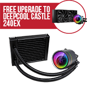 DEEPCOOL GAMERSTORM ARGB 120mm CASTLE 120 EX Liquid Cooler-Free Upgrade to DEEPCOOL CASTLE 240 EX ARGB Liquid Cooler