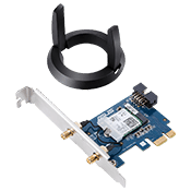 ASUS PCE-AC58BT AC2100 Wireless Network Card 802.11ac Dual-Band (2.4GHz/5 GHz) up to 1733 Mbps