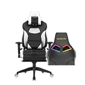 Gamdias Achilles P1 Gaming Chair w/ RGB Back Lighting - [White]