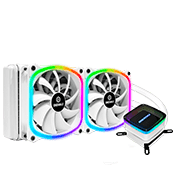 ENERMAX 240mm AQUAFUSION ARGB CPU Cooler [White]