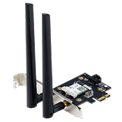 ASUS PCE-AX3000 Dual Band PCI-E WiFi 6 (802.11ax). Supporting 160MHz, Bluetooth 5.0, WPA3 network security